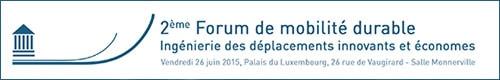 2ème Forum de mobilité durable - 26 Juin 2015