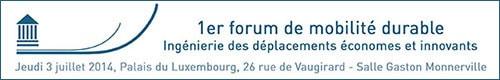 Forum Mobilité durable - 3 juillet 2014